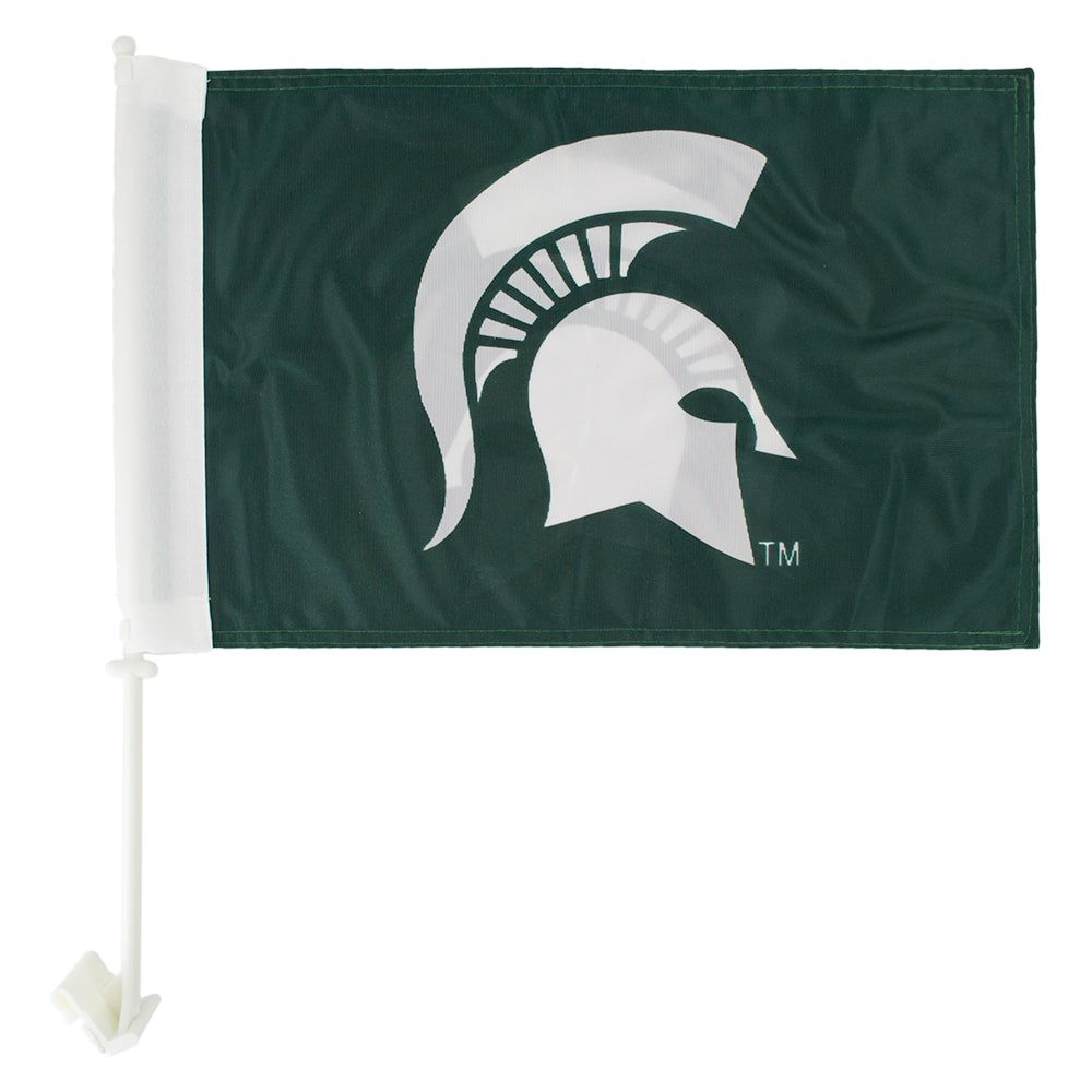 Spartan Head Car MSU Flag
