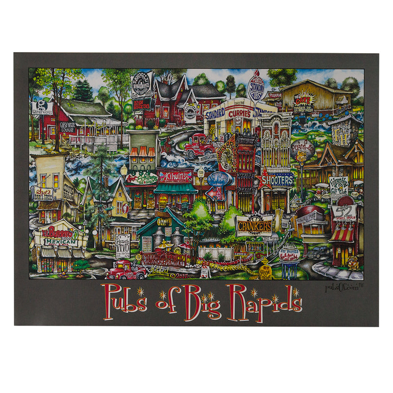 Pubs Of Big Rapids Poster