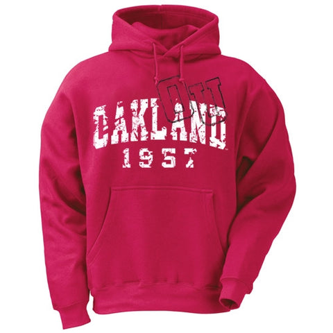 Distressed Logo Oakland Hoodie