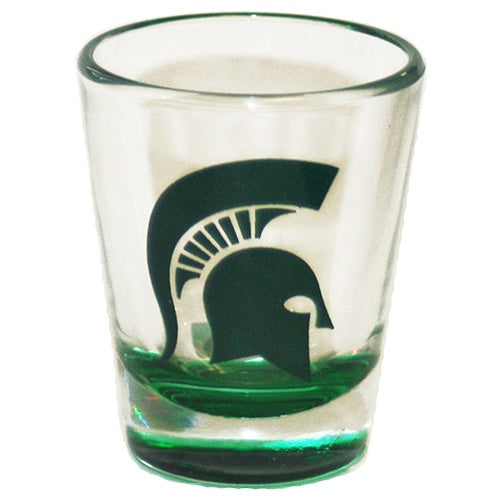 MSU Color Bottom Shot Glass