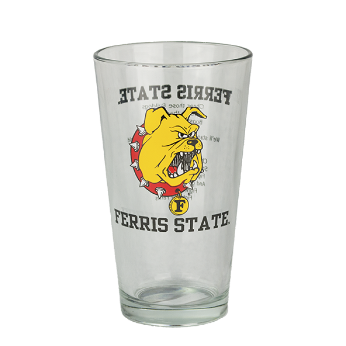Fight Song Ferris State Pint Glass