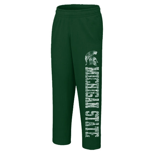 Open-Bottom MSU U1LP Sweatpants