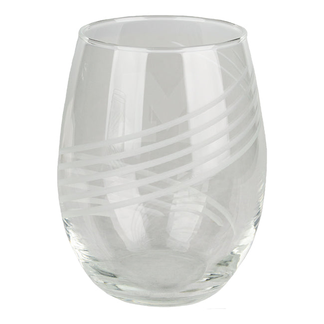 UM Etched Wine Glass