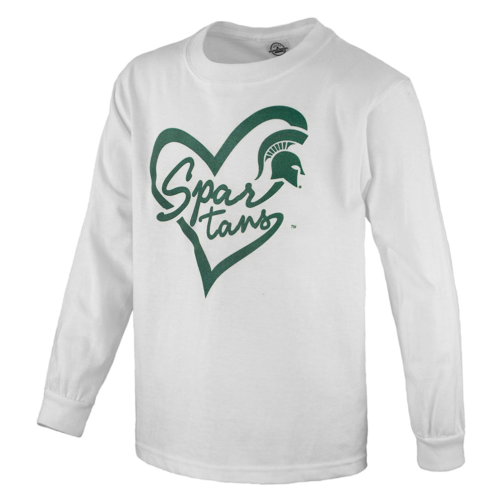 Script Heart MSU HNL Youth Long Sleeve T-Shirt
