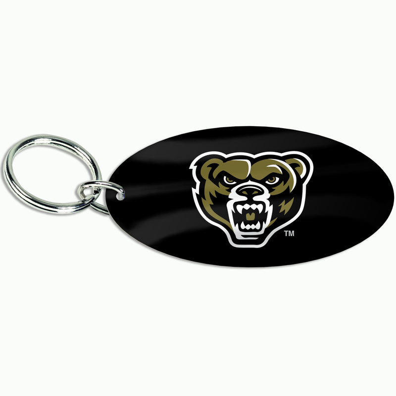 Oakland Oval Golden Grizzly Keychain