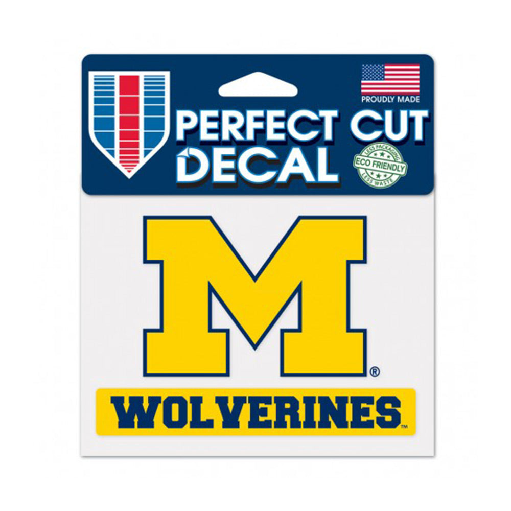 "UM 2pc Block ""M""/ Wolverines Decal"