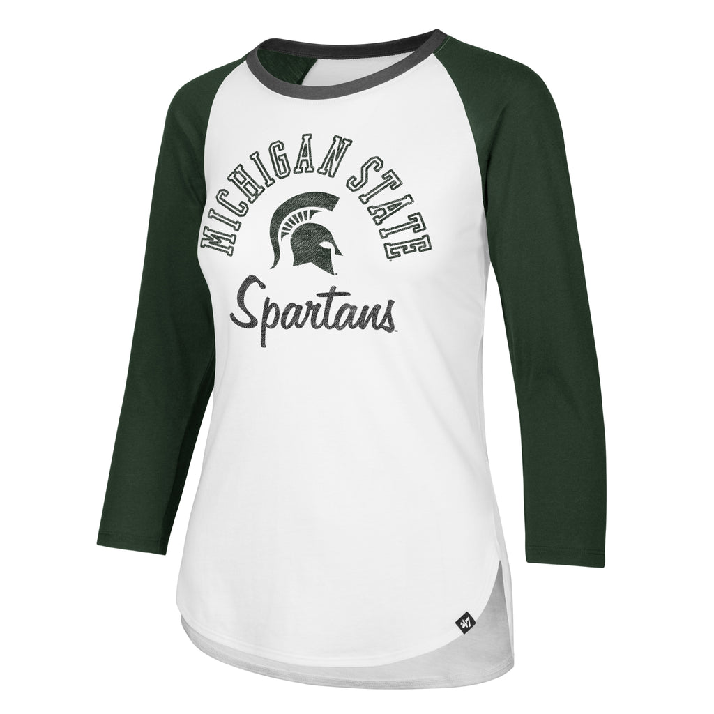 Ladies  Splitter Raglan MSU Long Sleeve T-Shirt