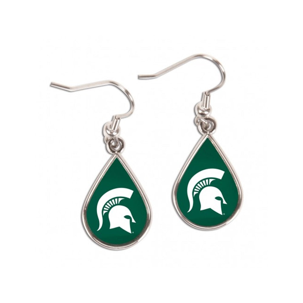 MSU Teardrop Spartan Head Earrings