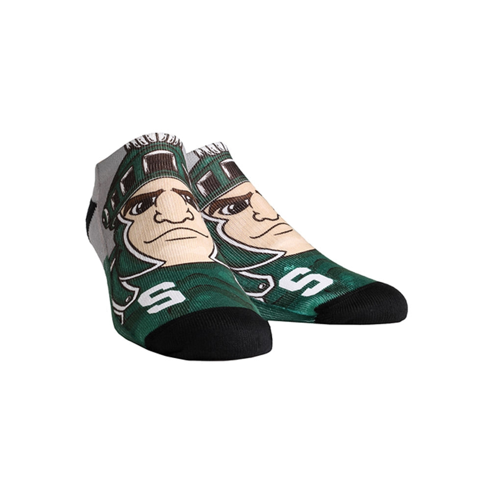 MSU Mascot Low Cut Socks