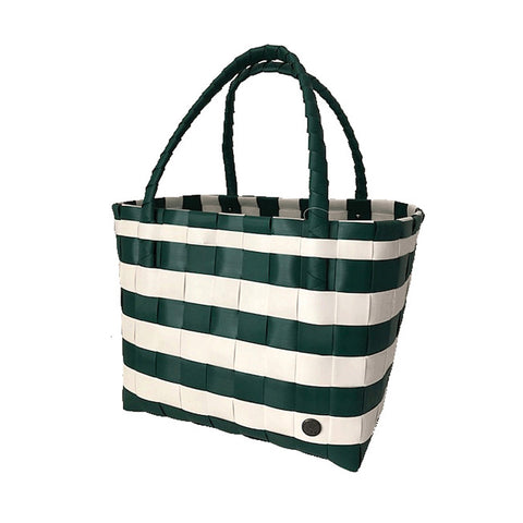 MSU Woven Striped Reusable Shopping Tote Bag