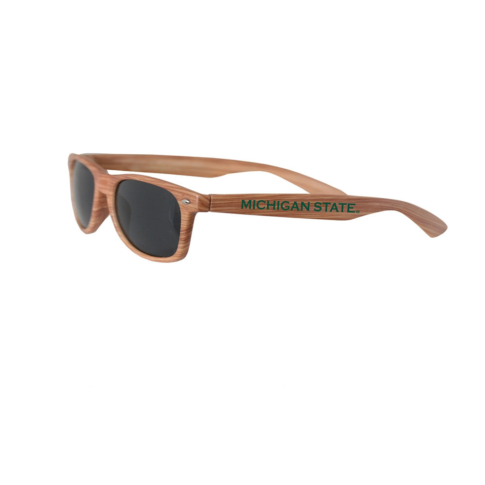 MSU Wood Tone Sunglasses