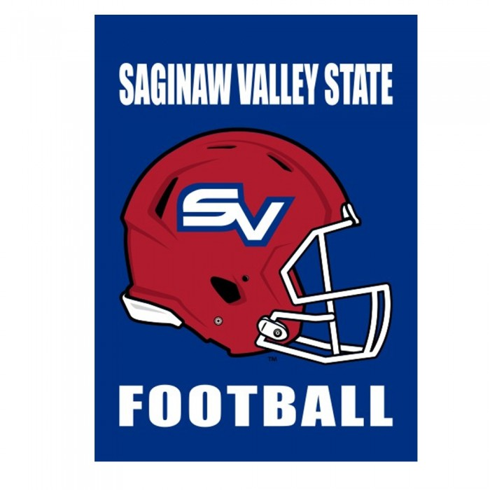 Football Design SVSU Garden Flag