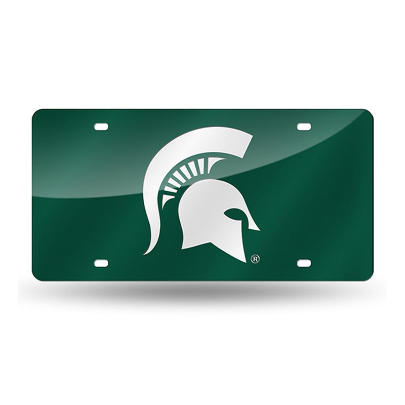 MSU Spartan Head License Plate