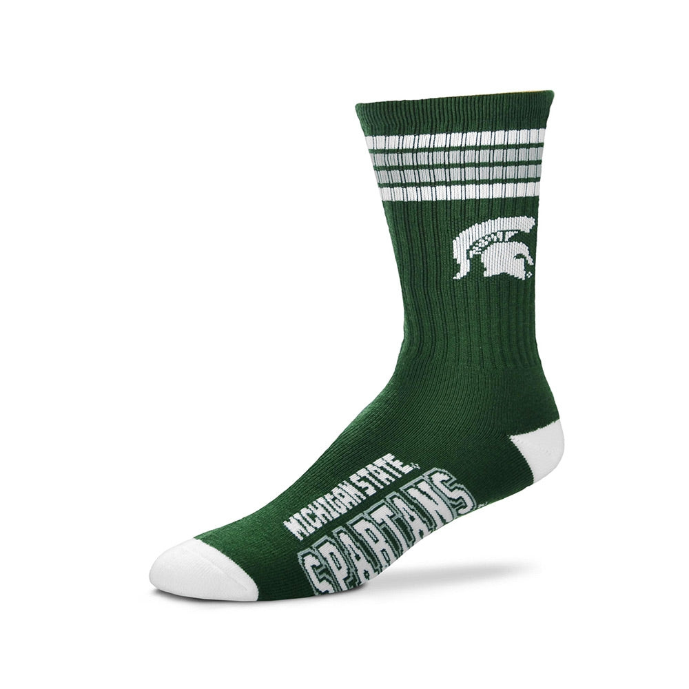 MSU Youth 4 Stripes Socks