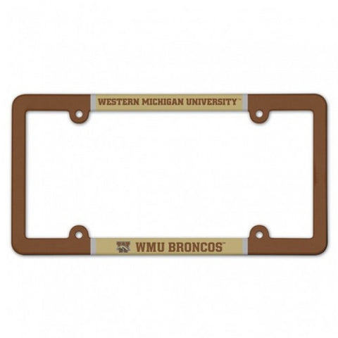 Full Color WMU License Plate Frame