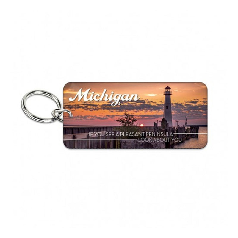 GR8ST8 Rectangle Michiagn Keychain