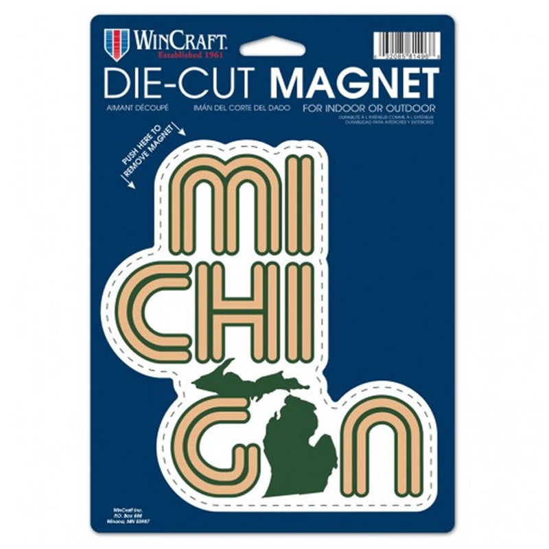 GR8ST8 Die Cut Michigan Magnet
