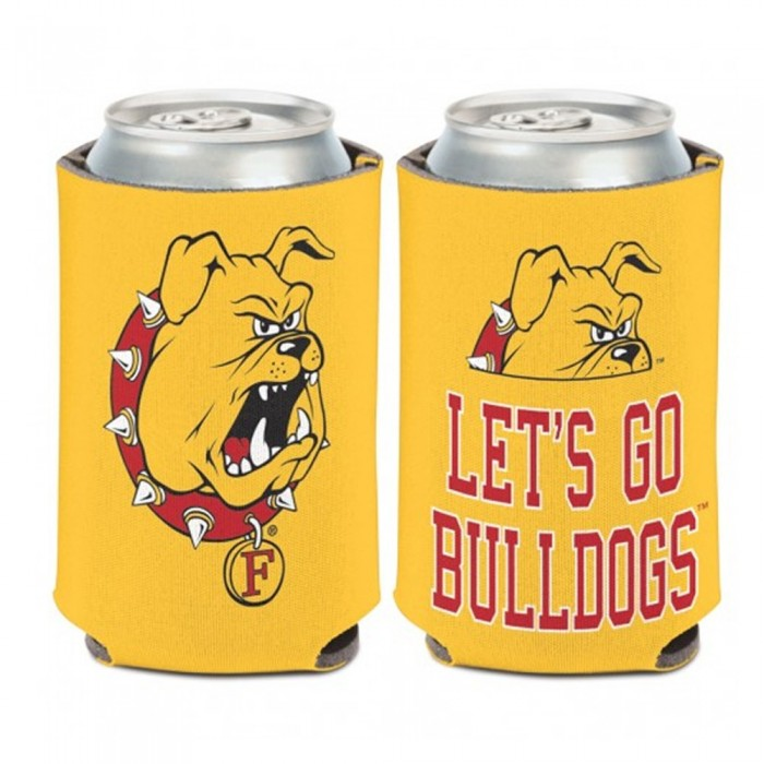 "Ferris State ""Let's Go Bulldogs"" Can Cooler"
