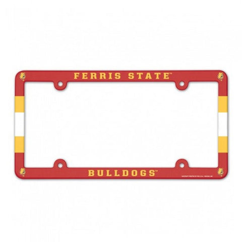 Full Color Ferris State License Plate Frame