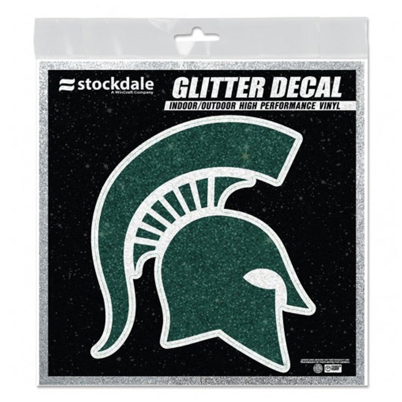 MSU Glitter Spartan Head Decal