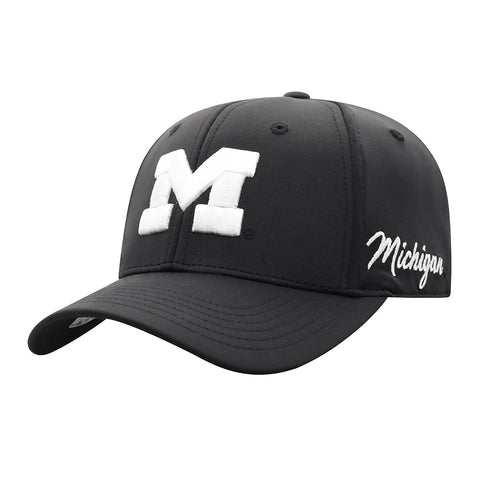 UM White Block 'M' Flex Hat