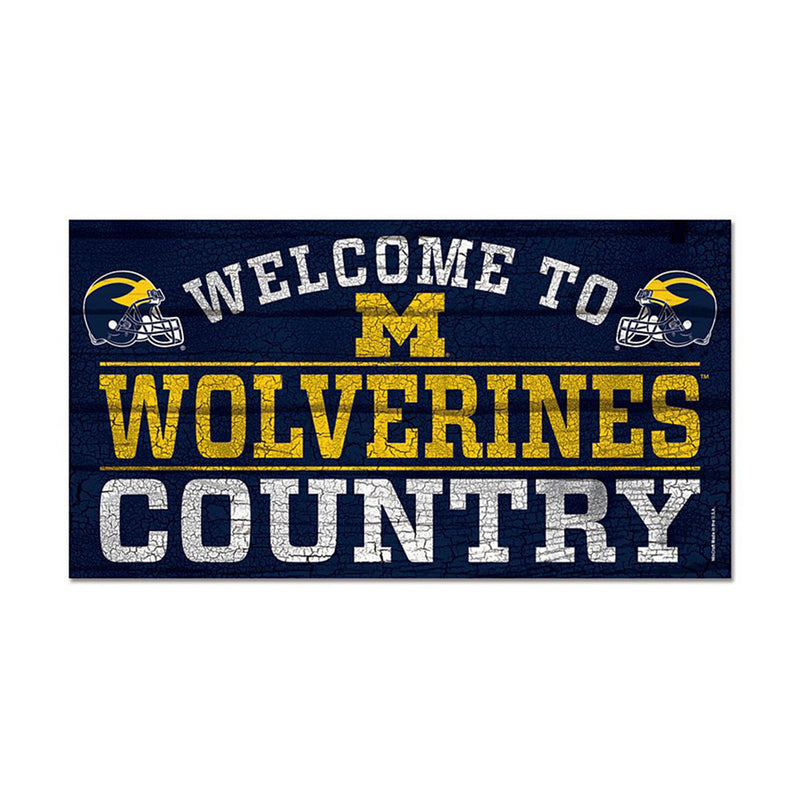 UM Wolverine Country Sign