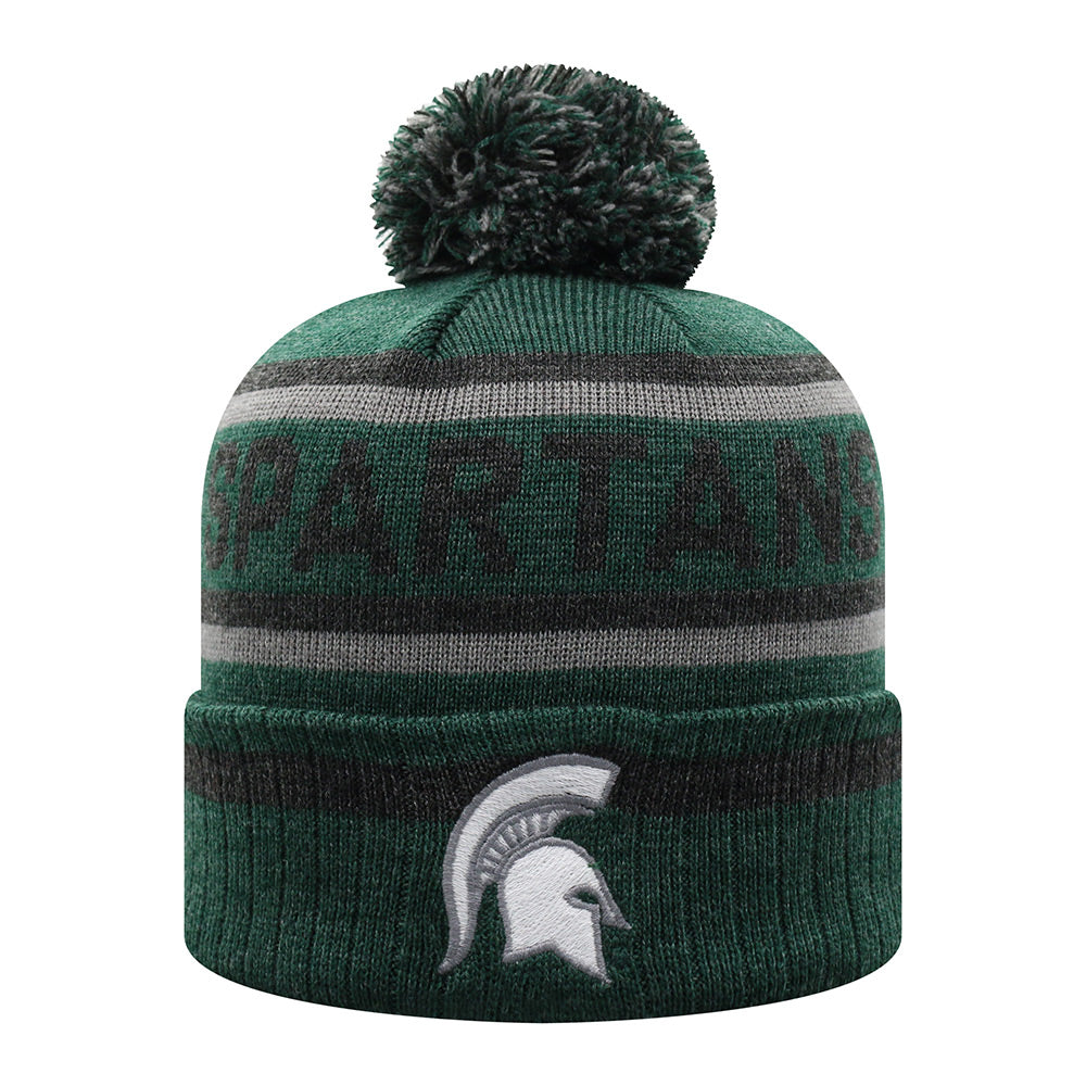 MSU Spartans Cuffed Pom Knit Hat