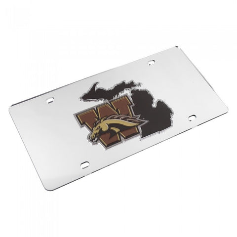 State Of Michigan & Logo WMU License Plate
