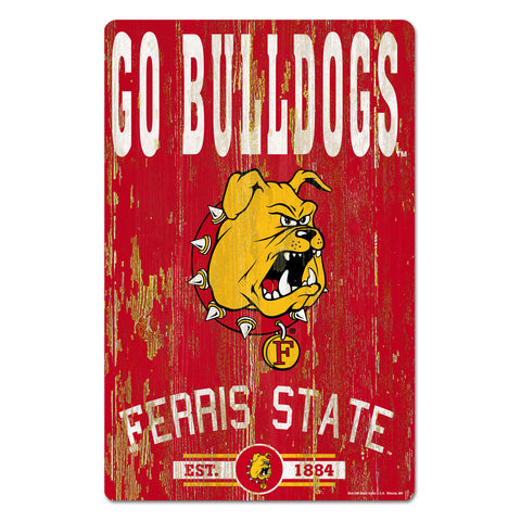 Go Bulldogs Ferris State  Wood Sign