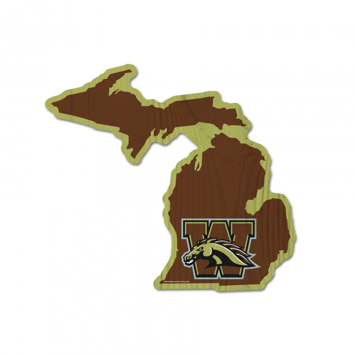 WMU State Outline Wood Sign