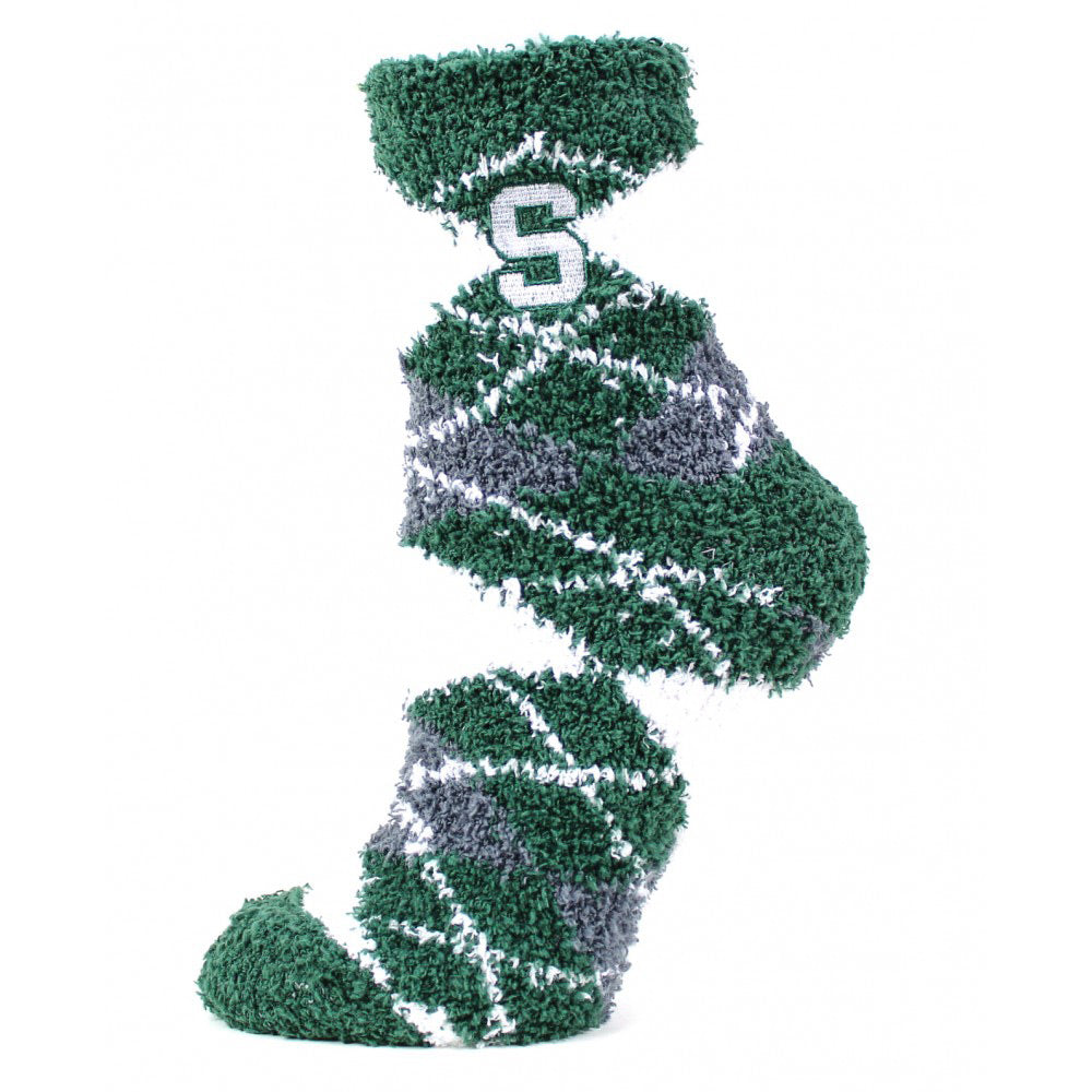 MSU Argyle Sleepsoft Sock