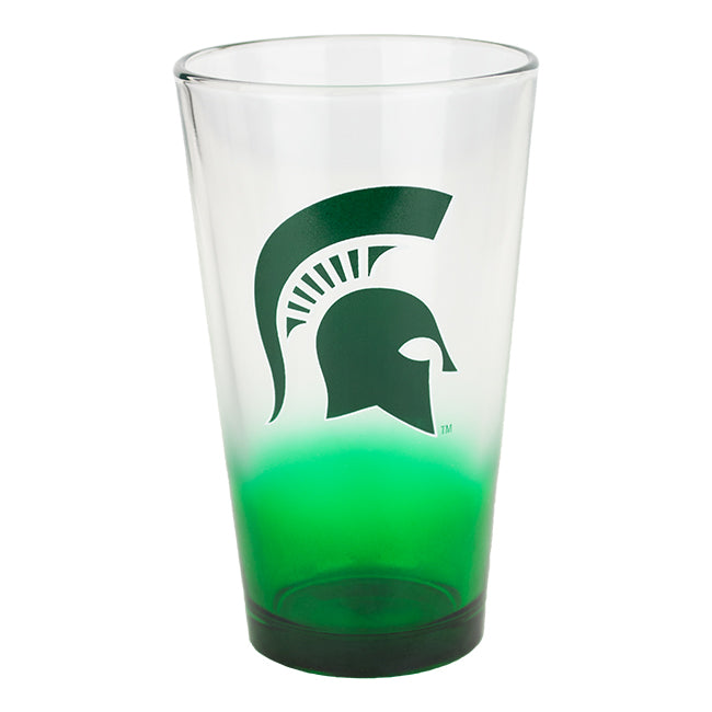2tone Spartan Head MSU Pint Glass