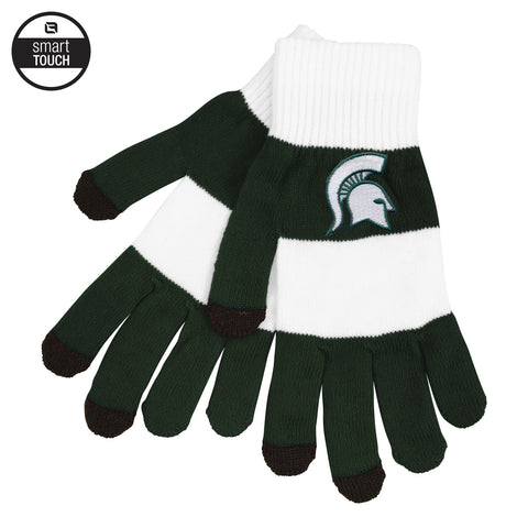 MSU Striped Rugby Gloves