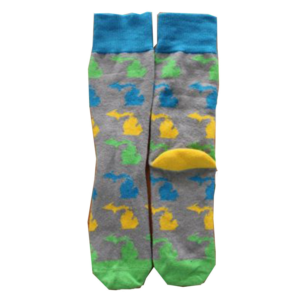 GR8ST8 State Of Michigan Crew Socks