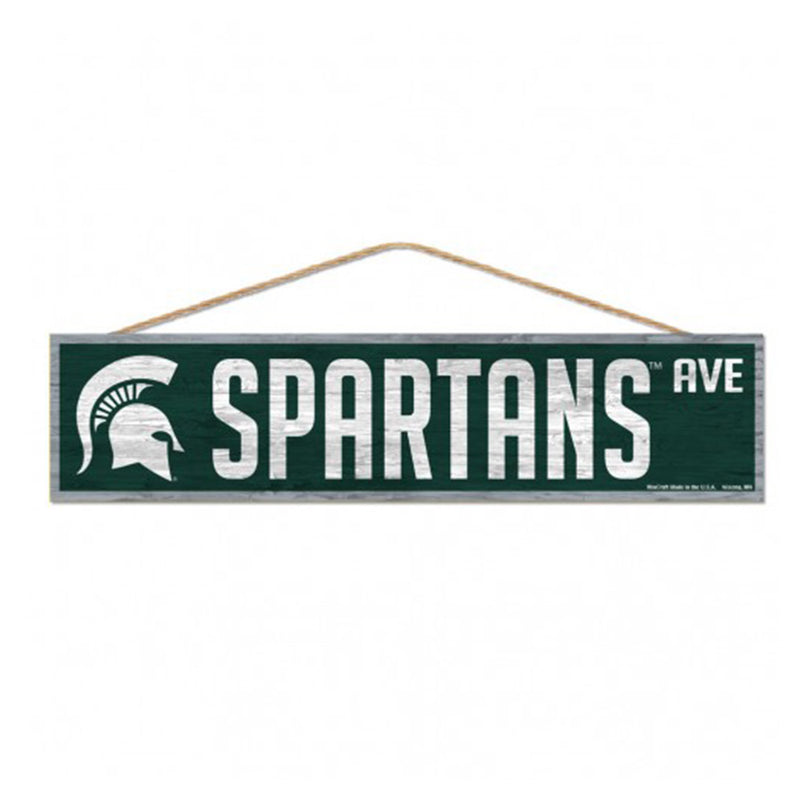 Spartans Ave MSU Wood Sign