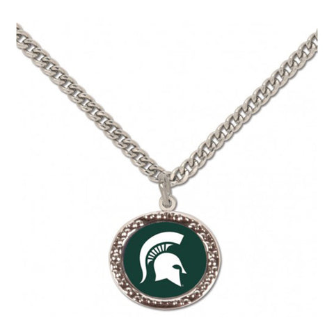 MSU Spartan Head Necklace