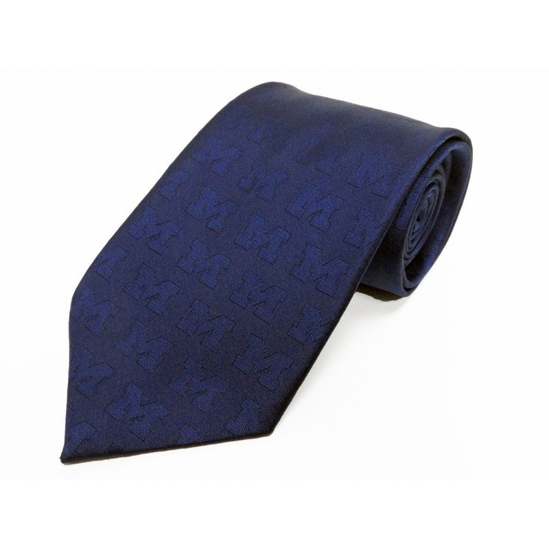 "UM Tone On Tone Block ""M"" Tie"