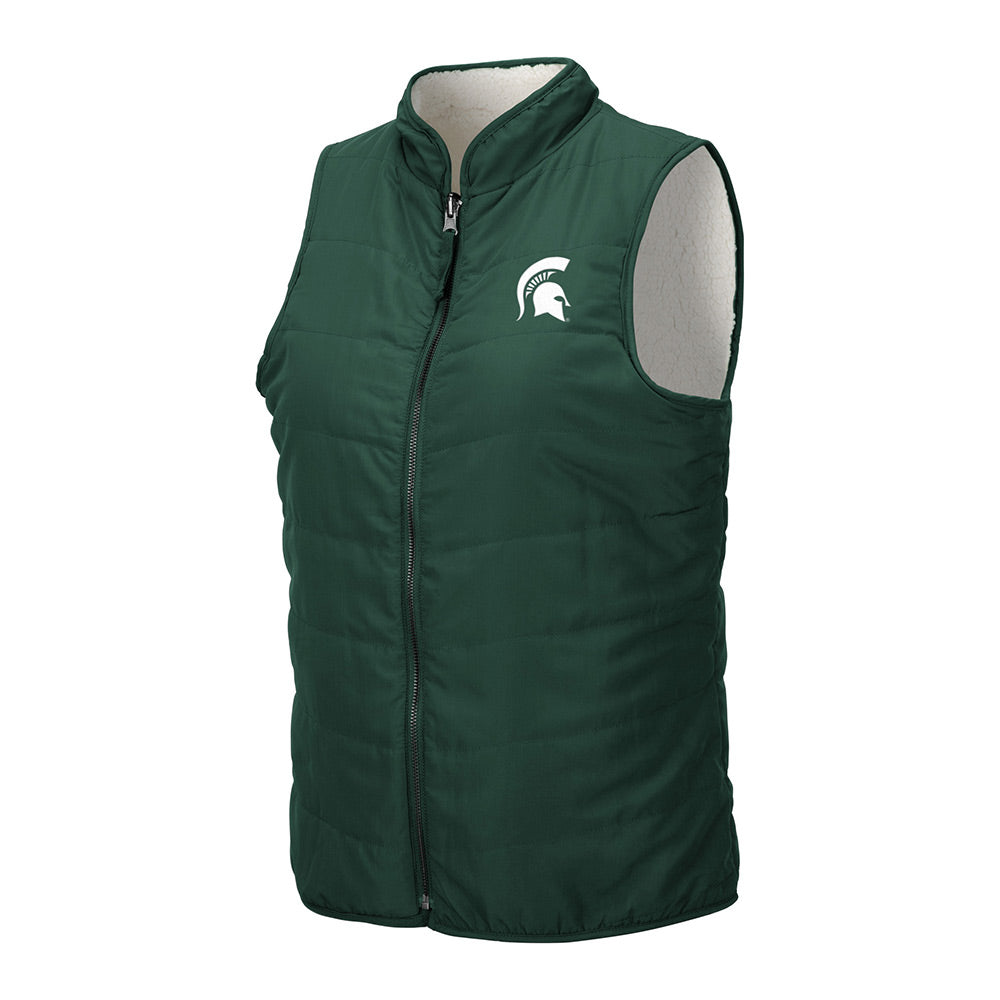 Ladies Full-Zip Reversible MSU Sherpa