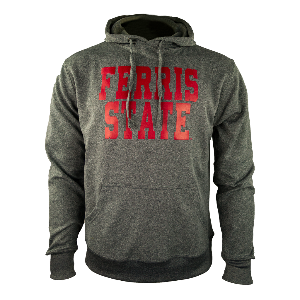Performance Blocky Text Ferris State B Hoodie