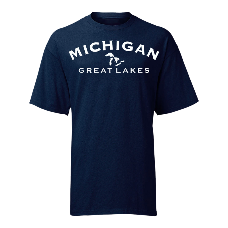 Great Lakes Outline  GR8ST8 GLU T-Shirt