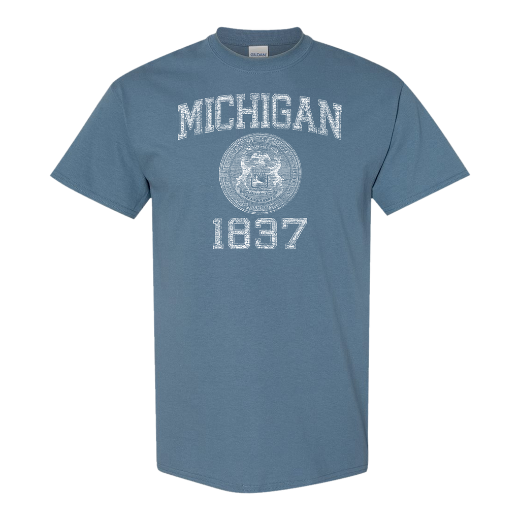 Michigan Stamp 1837 GR8ST8 TUEB T-Shirt