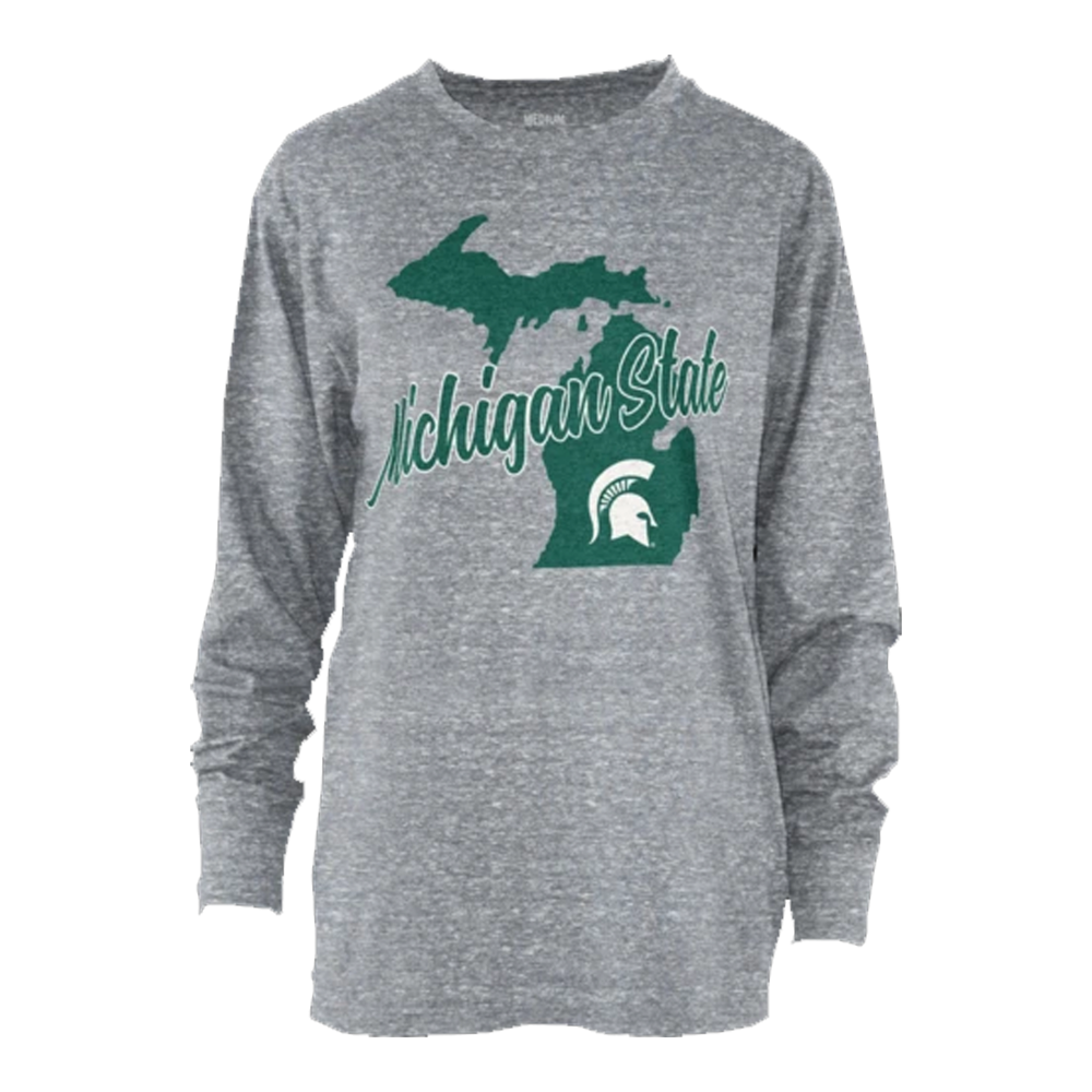 Ladies Tri-knobi MSU Long Sleeve T-Shirt