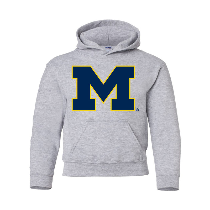 Block 2 Color UM SM Youth Hoodie