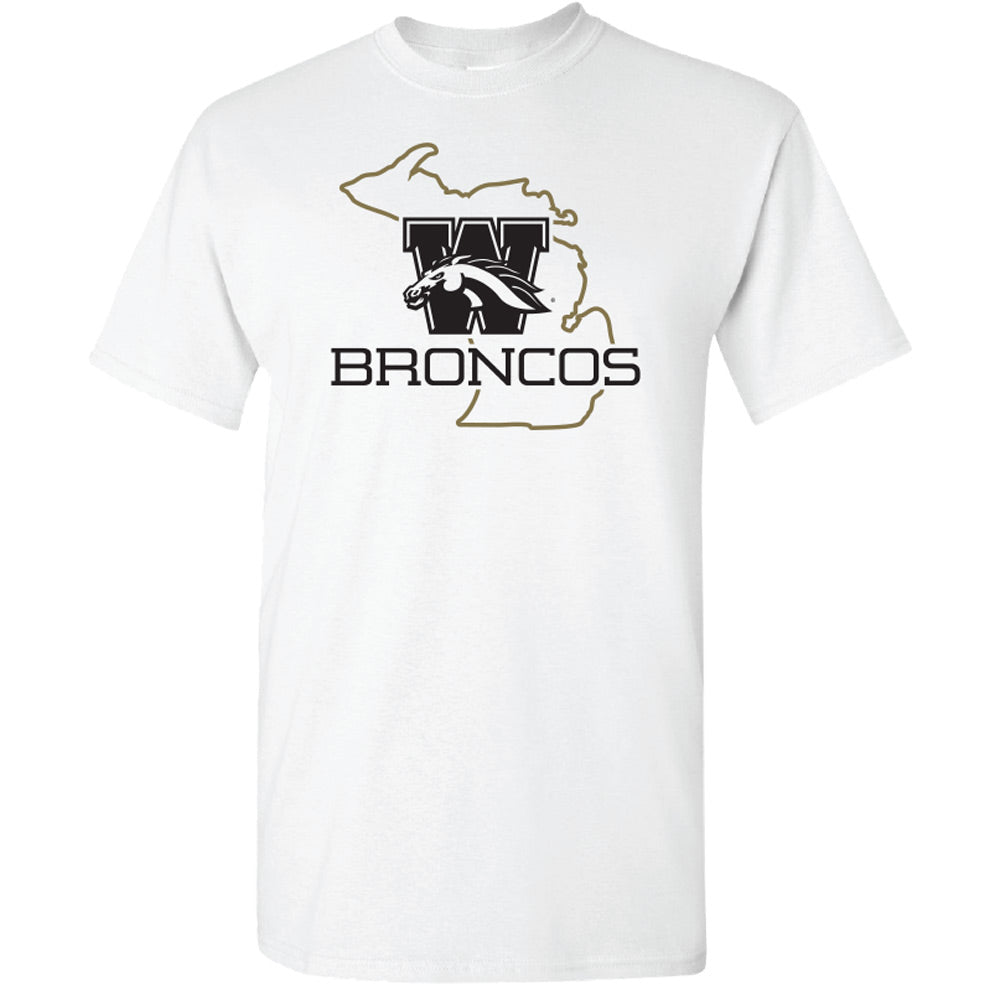 Broncos State Outline WMU T-Shirt