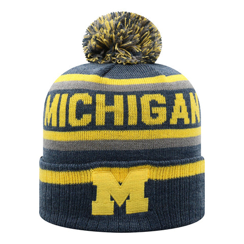 UM Striped Pom Knit Hat