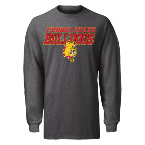 Italic Block Letter Ferris State IBL Long Sleeve T-Shirt