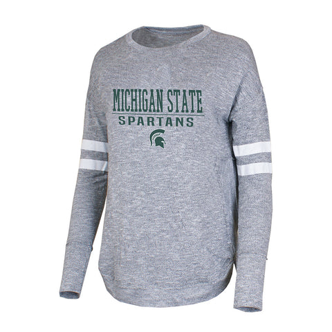 Ladies Marble MSU Long Sleeve T-Shirt