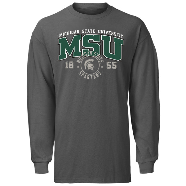 Circle Stamp MSU AIC Long Sleeve T-Shirt