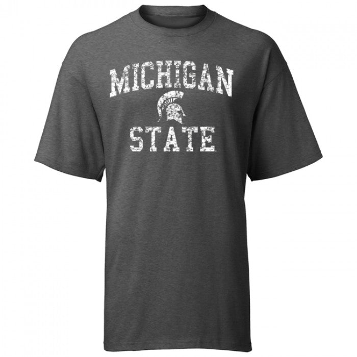 Weathered Arched Logo MSU ASW T-Shirt