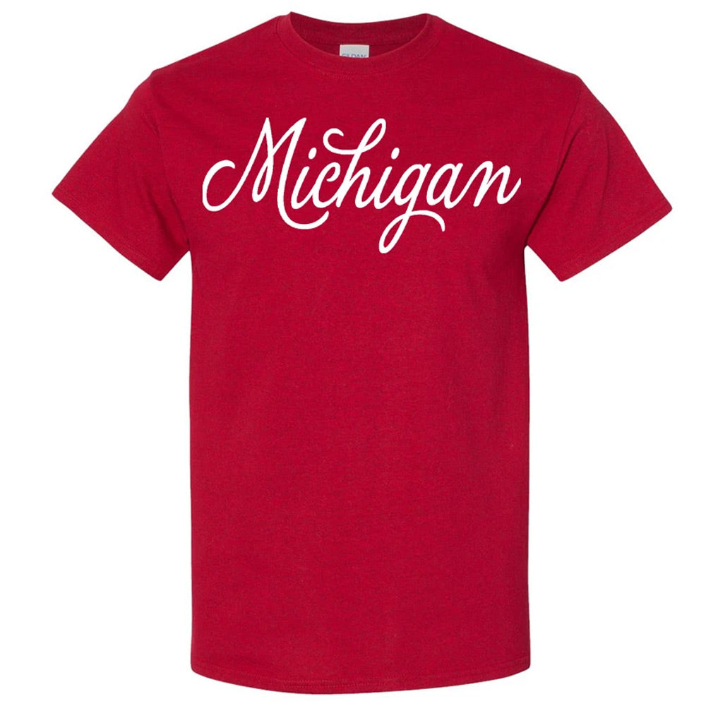 Script Michigan  GR8ST8 SCPT T-Shirt